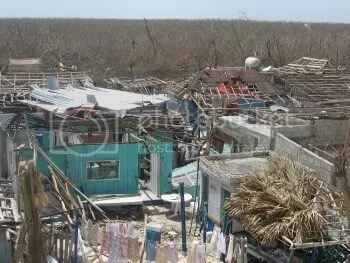 Destruction in Mahahual from Hurricane Dean
