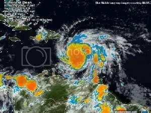 Hurricane Dean Satellite Image