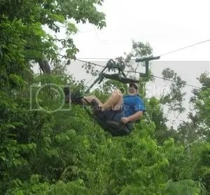 Tony on the Skycycle Jungle Adventure Tour at Hidden Worlds