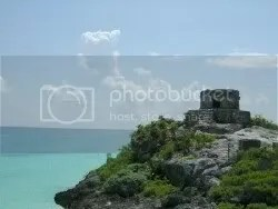Tulum ruins, on the edge of the Caribbean Sea