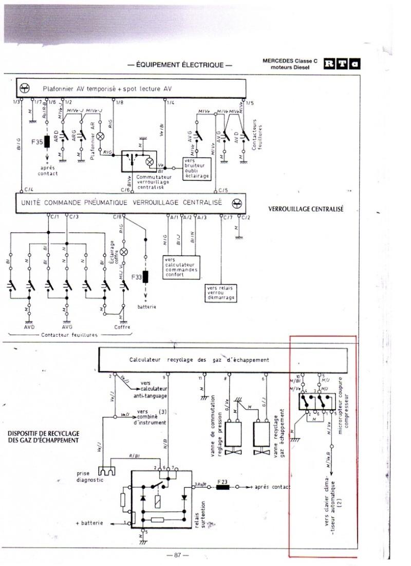 Schema relais mercedes w203