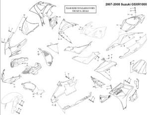 Complete Black Fairing Bolt Kit Body Screws for Suzuki