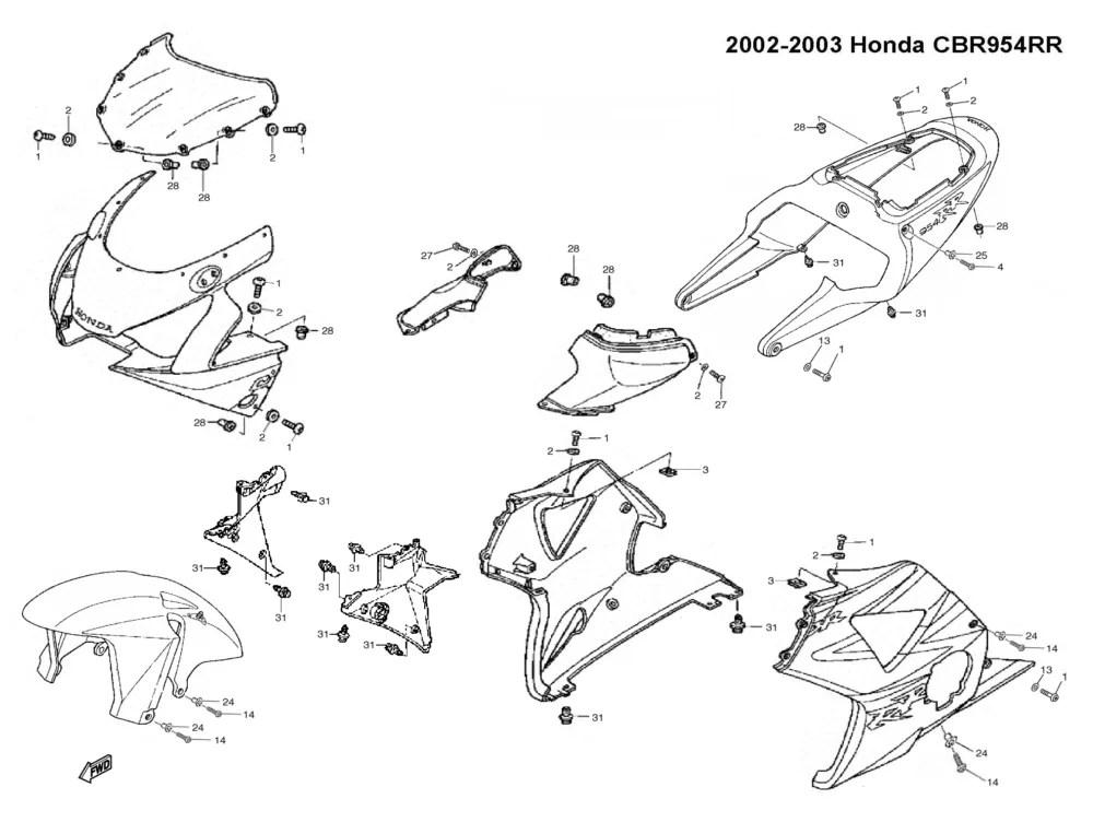 Honda cbr oem schmatic layout