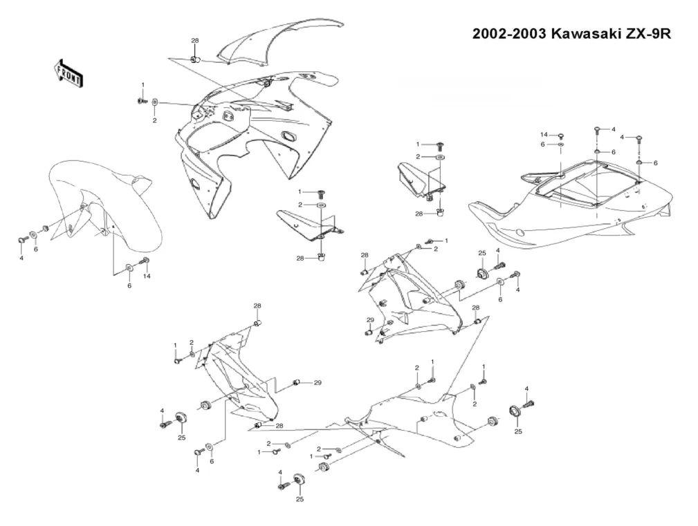 kawasaki motorcycle diagrams