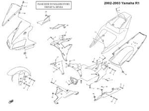 Complete Black Fairing Bolt Kit Body Screws for 20022003