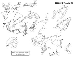 Complete Black Fairing Bolt Kit Body Screws for 20092015