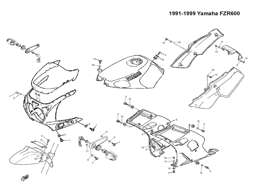 1990 yamaha fzr 600 wiring diagram