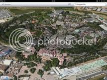 Aerial View of Disneyland Hotel Map