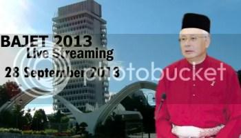 live streaming bajet 2013
