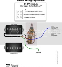 wrg 1374 p 90 pickup wiring diagram coil split for a p rail double humbucker guitar [ 791 x 1024 Pixel ]
