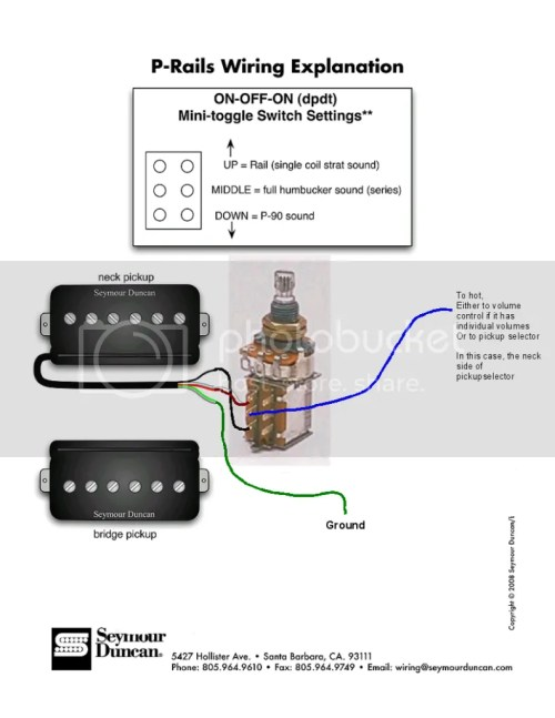 small resolution of wrg 1374 p 90 pickup wiring diagram coil split for a p rail double humbucker guitar