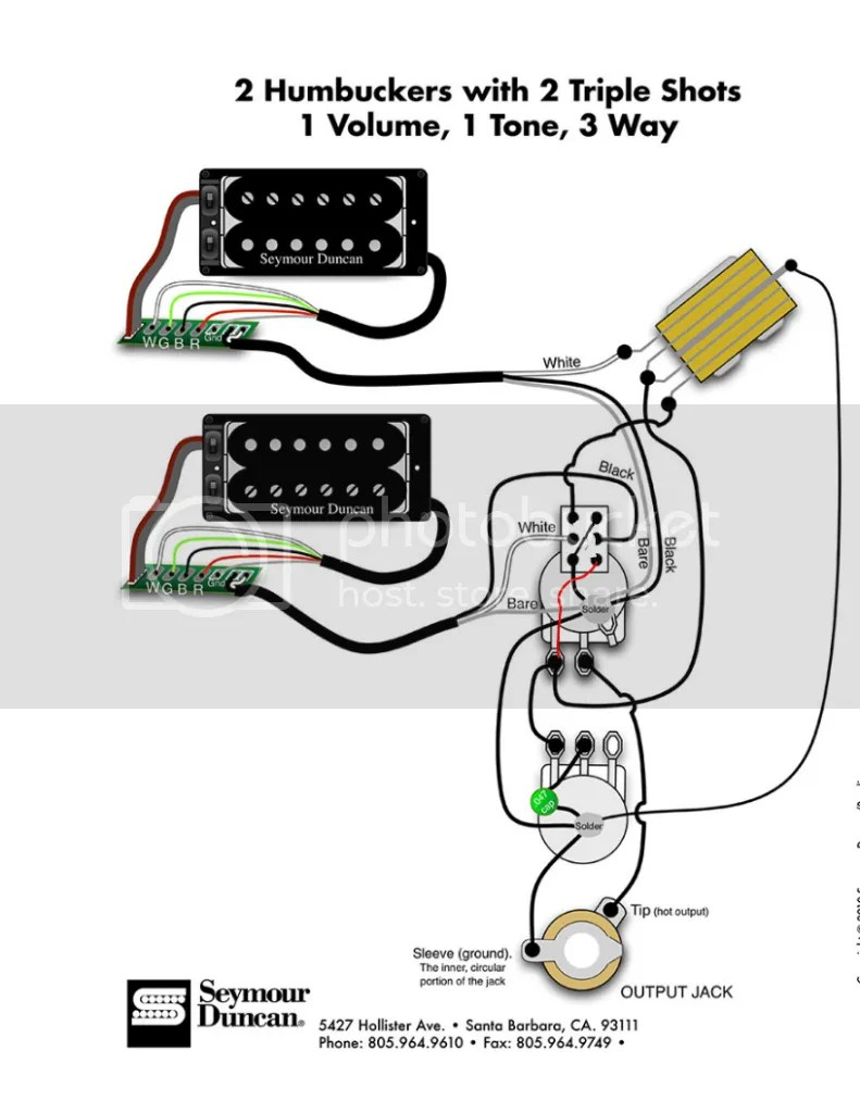 Seymour Duncan Wiring Diagram 2 Triple Shots Humbuckers