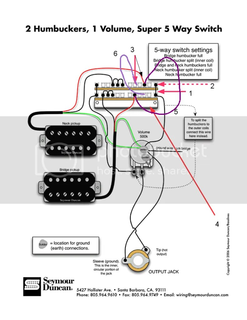 EBFEEF5 Seymour Duncan Humbucker 3 Way Switch Wiring