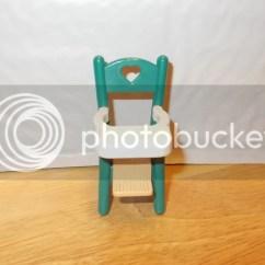 Green High Chair Modern Nursing Fisher Price Loving Family Dollhouse