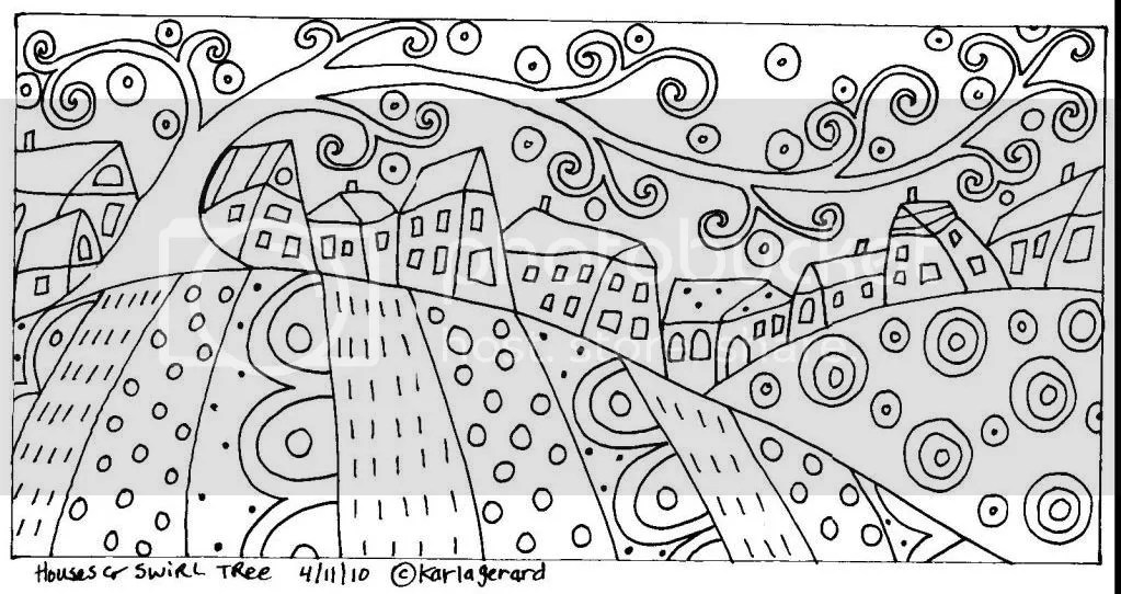 Karla Gerard Rug Hooking Patterns Sketch Coloring Page