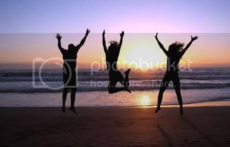 jump for joy photo: Jump for joy! 3_people_jumping_beach_sunset.jpg
