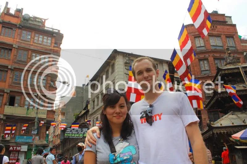 Yean and Sam in Kathmandu
