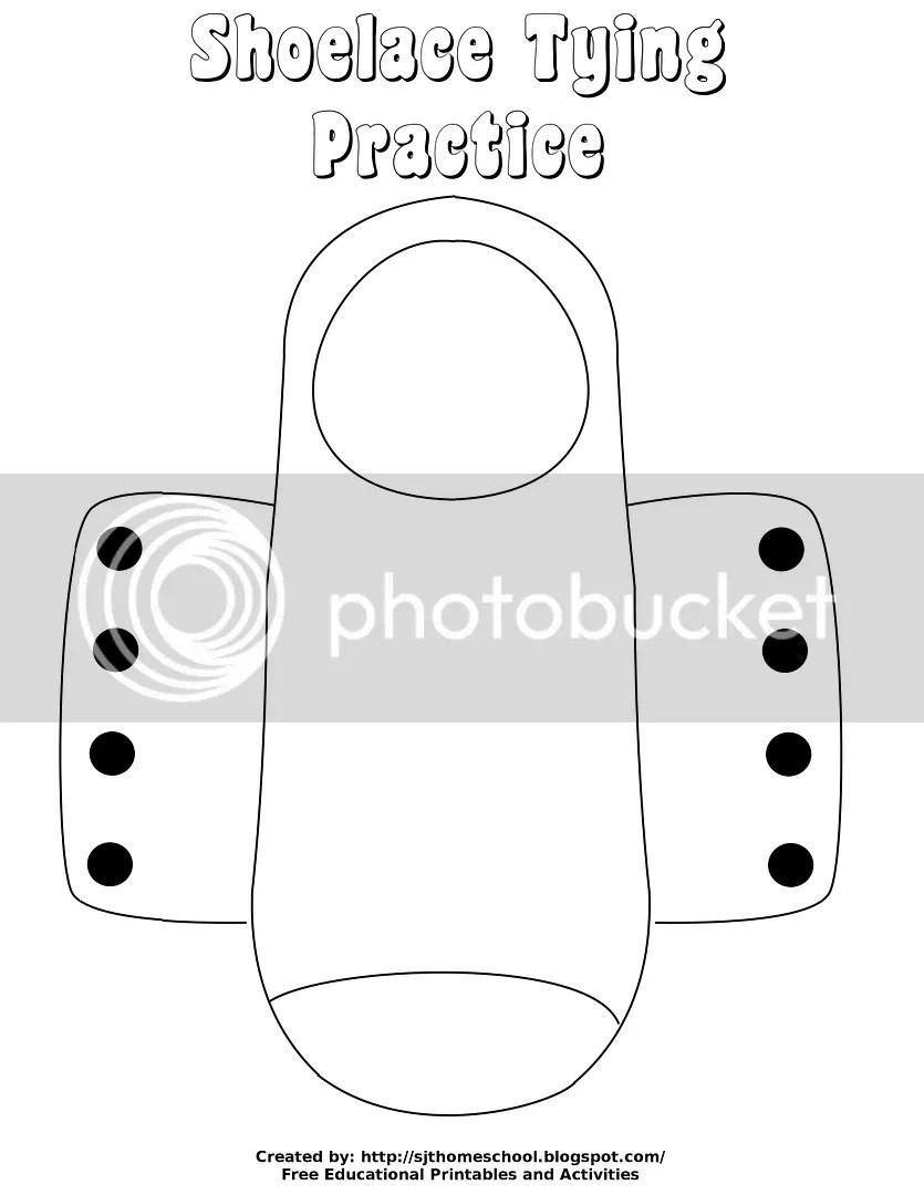 Creative Homeschool: Shoe Tying Practice {Free Printable}