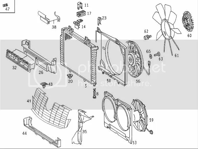 Need parts #s, schematic for W208 Radiator, condenser, all