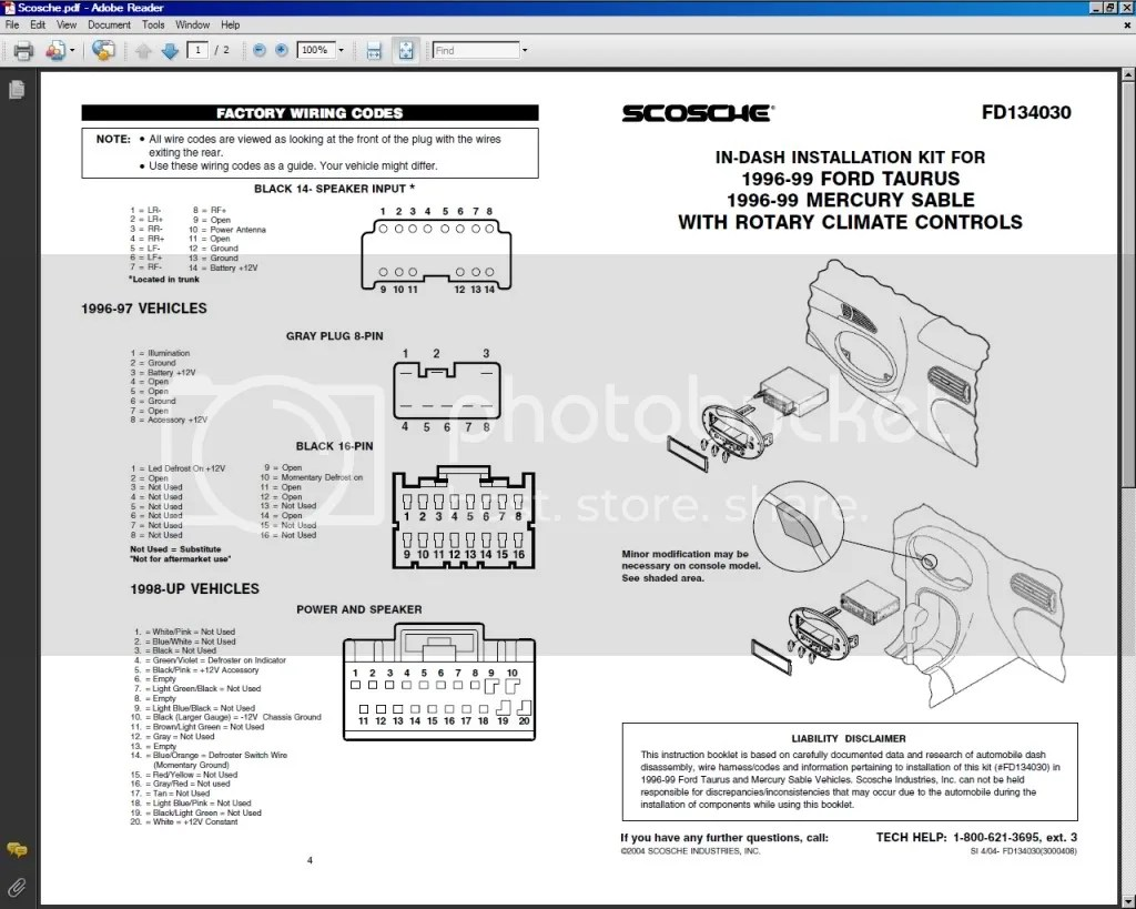 Scosche Wiring Harness Interface Codes, Scosche, Free