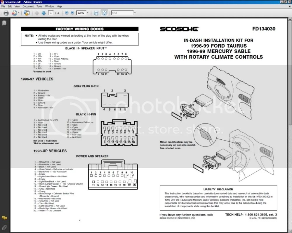 medium resolution of ford taurus radio wiring wiring diagram structure ford radio wiring diagram for 1998 ford taurus