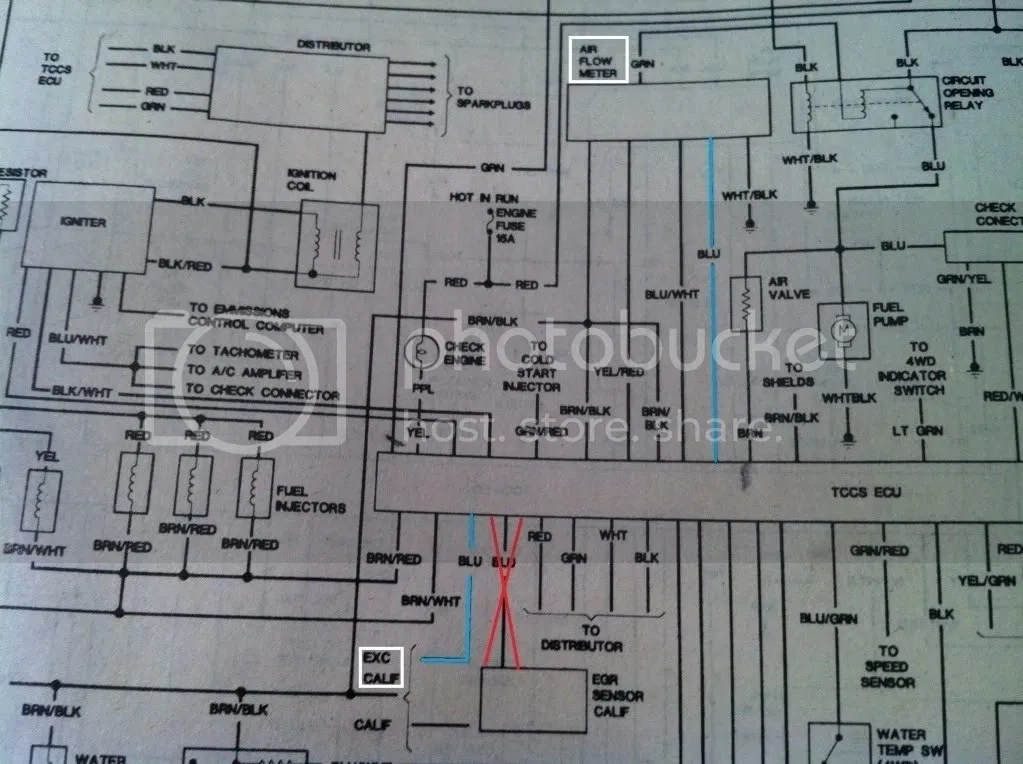 Toyota 4runner Wiring Diagram On 87 Toyota Pickup Ecu Wiring Diagram