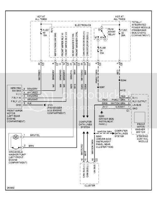 small resolution of here s the tipm wiring diagram for the front wipers looks like logic board stuff so