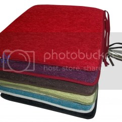 Dining Chair Cushions With Ties Adams Adirondack Stacking Garden Foam Filled Zipped Removable Cover