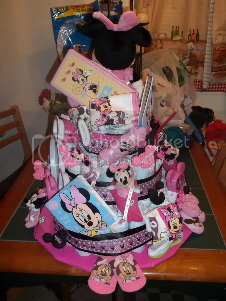 minnie mouse diaper cake  BabyGaga