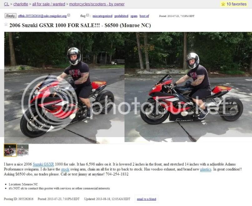 Craigslist Charlotte Bmw Motorcycles 1stmotorxstyle Org