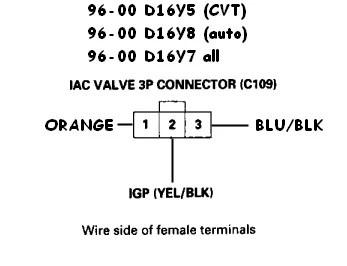 iac wiring diagram iacv wiring to the ecu honda tech
