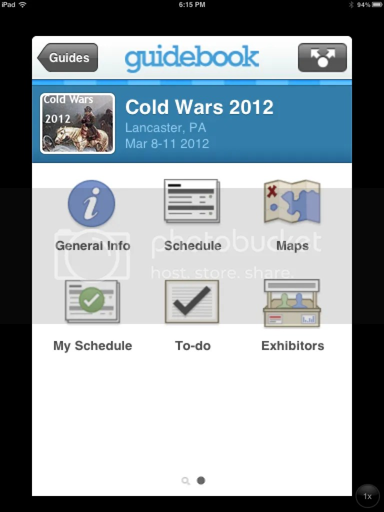 COLD WARS 2012 Guidebook App