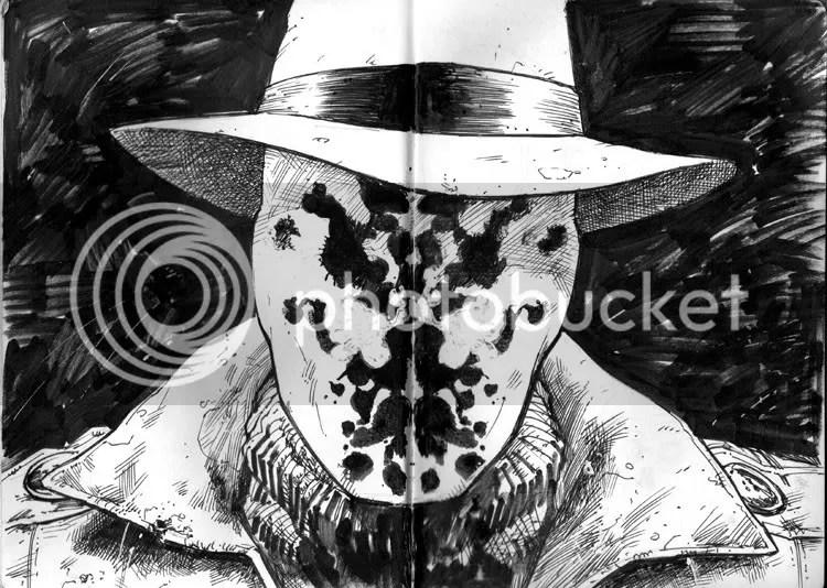 Rorschach, personaggio della saga a fumetti Watchmen scritta da Alan Moore