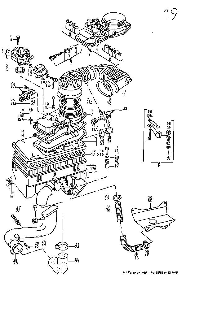 Audi Coupe quattro 1985 moteur, embrayage