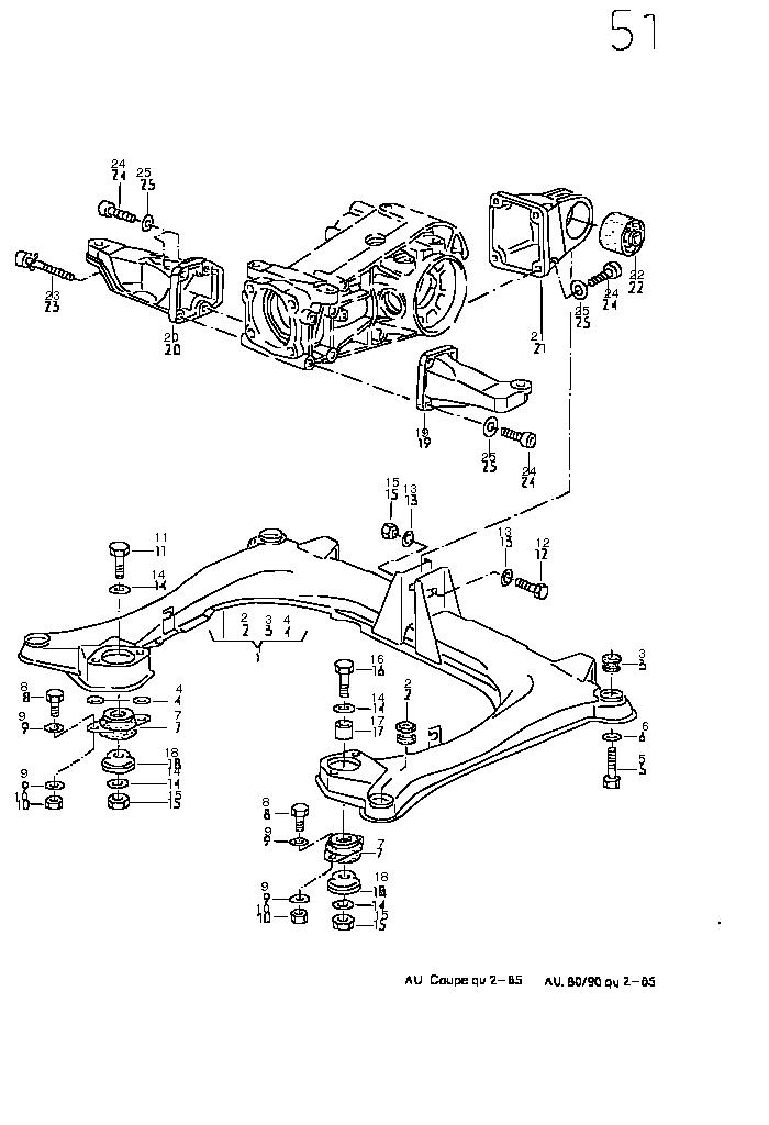 coupe quattro type 85 Transmission
