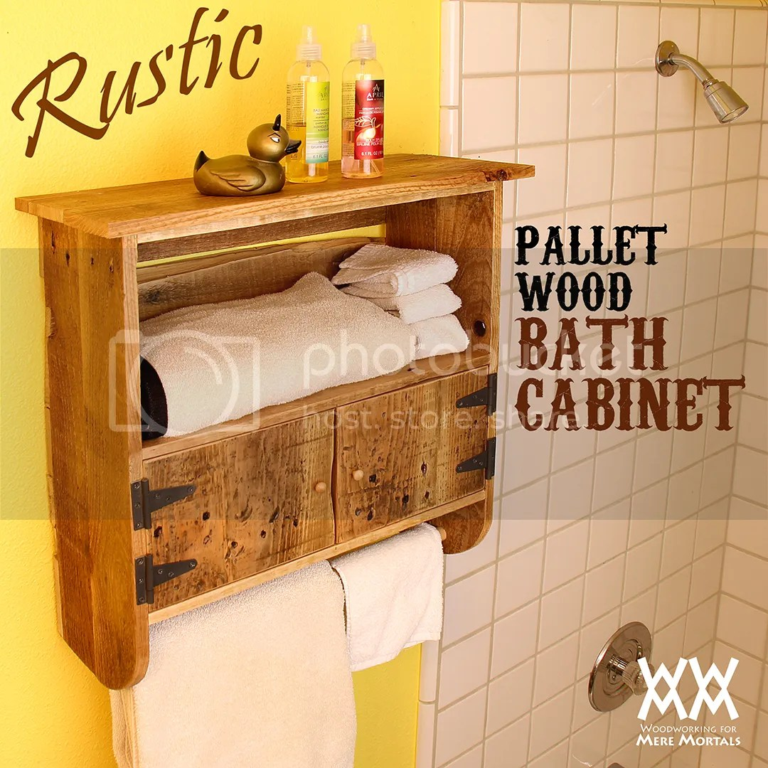 Rustic Bathroom Wall Cabinets Make A Rustic Pallet Wood Bath Cabinet Woodworking For