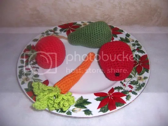 crochet fruits and veggies