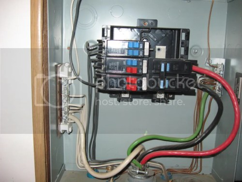 small resolution of wiring electrical sub panel and panel