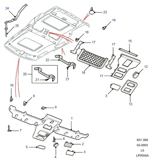 Service manual [2001 Land Rover Range Rover Sunroof Switch