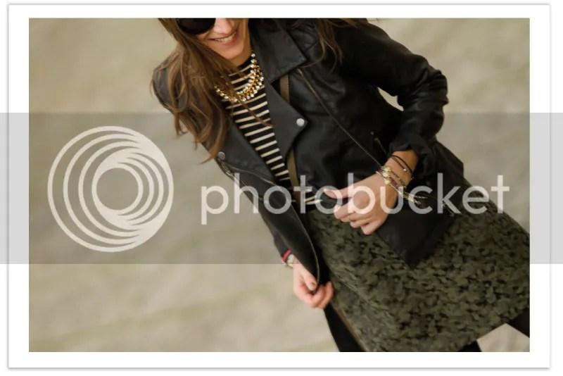mini skirt perfecto jacket