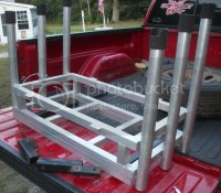 Truck 6 pole Aluminum Fishing Rod Holder/ with Cooler holder