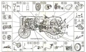 Fordson Major & Super Major Tractors Parts List Manual