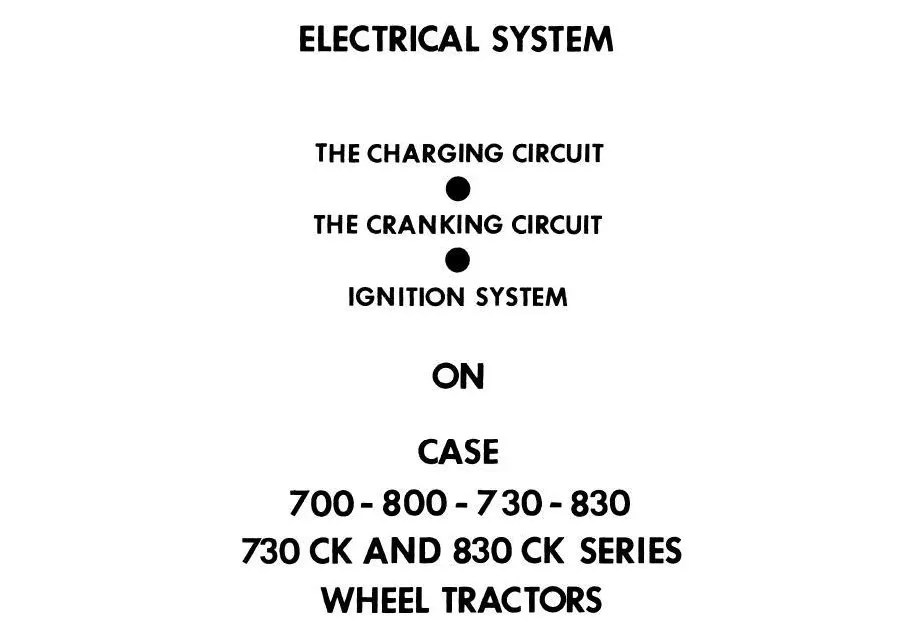 JI CASE 730, 830, 930 CK Draft O Matic Tractors Service
