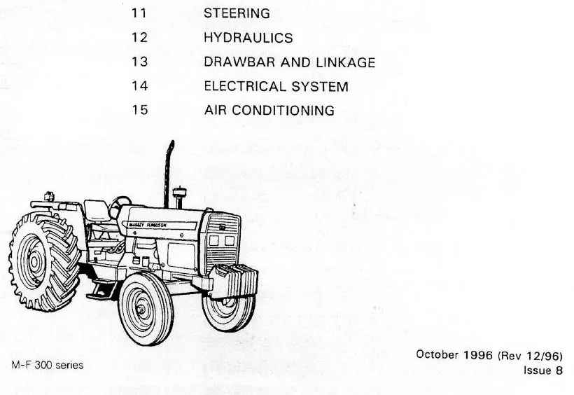MASSEY FERGUSON MF300 TRACTOR SHOP SERVICE MANUAL MF390