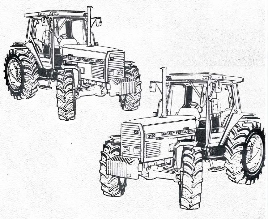 MASSEY FERGUSON 3000 3100 TRACTOR SERVICE OPERATORS MANUAL