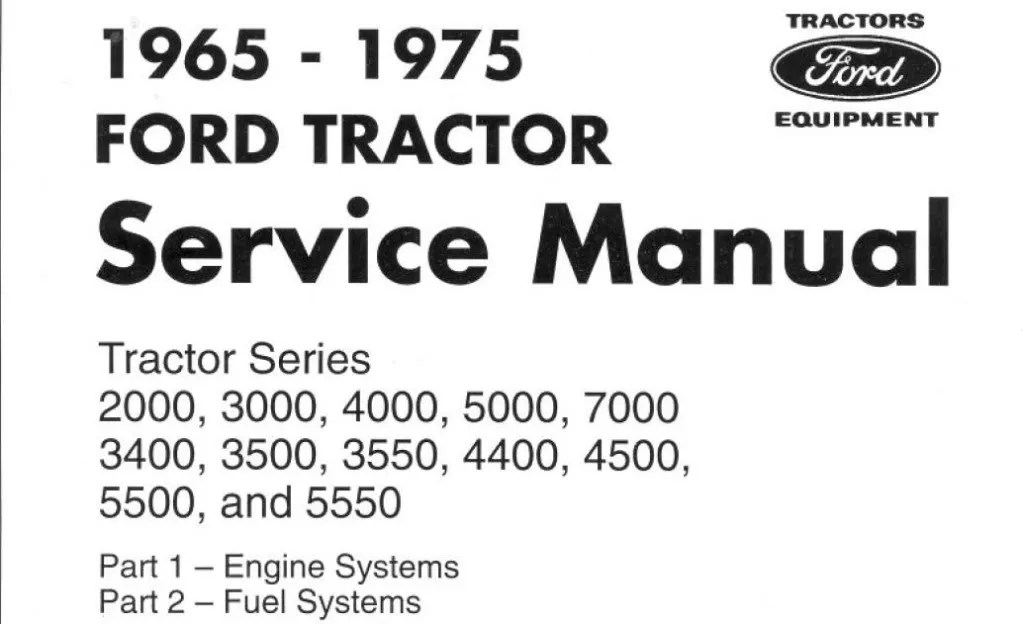 FORD TRACTORS SHOP SERVICE REPAIR MANUAL 3500 3550 4400