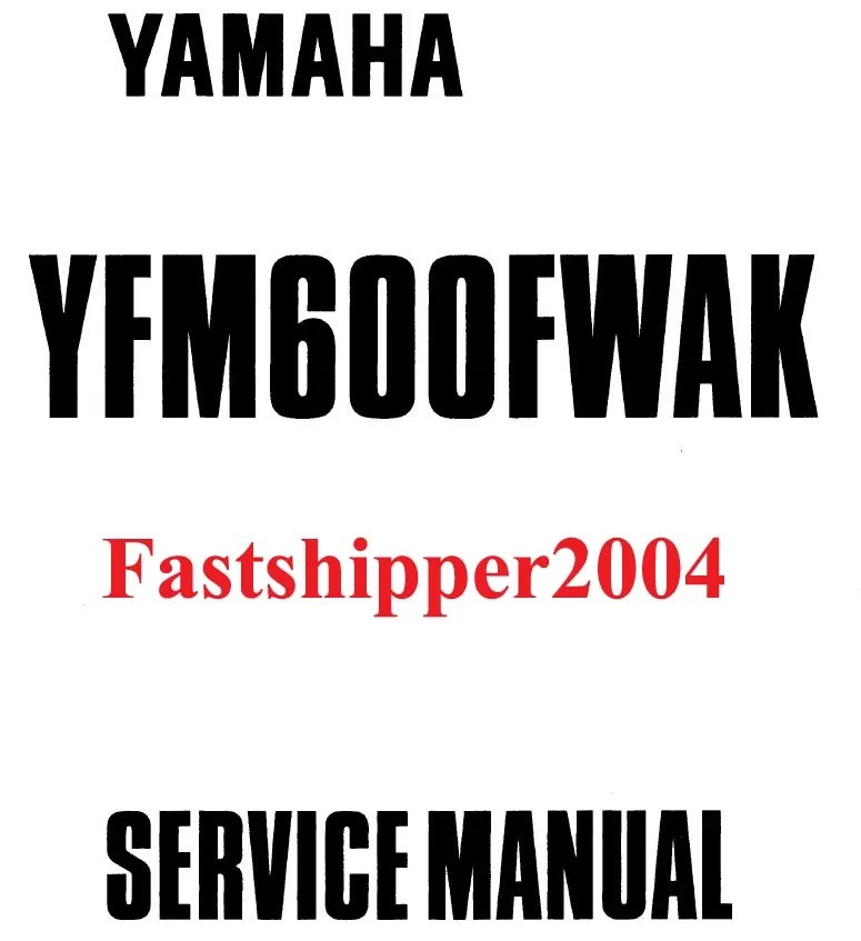 Yamaha Grizzly YFM600 600 Shop Service Repair Manual 1998