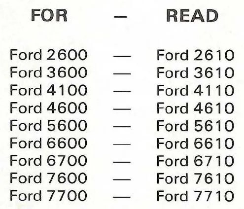 FORD TRACTOR SHOP SERVICE MANUAL 10 2610 3610 4110 4610