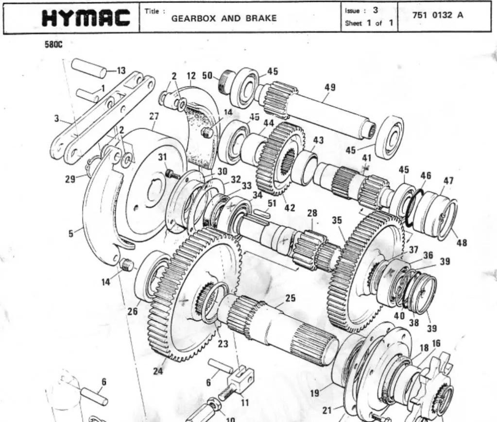 Hymac 580 C B BS BT Operators Maintenance Parts Manual