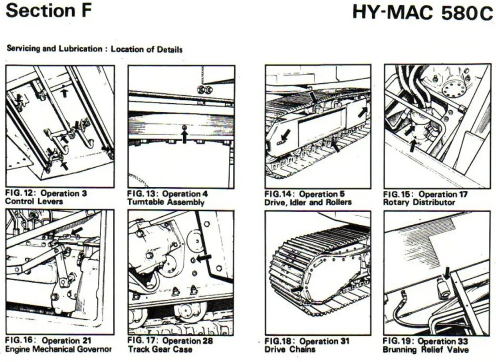 Hymac 580 C B BS BT Operators Maintenance Parts Manual